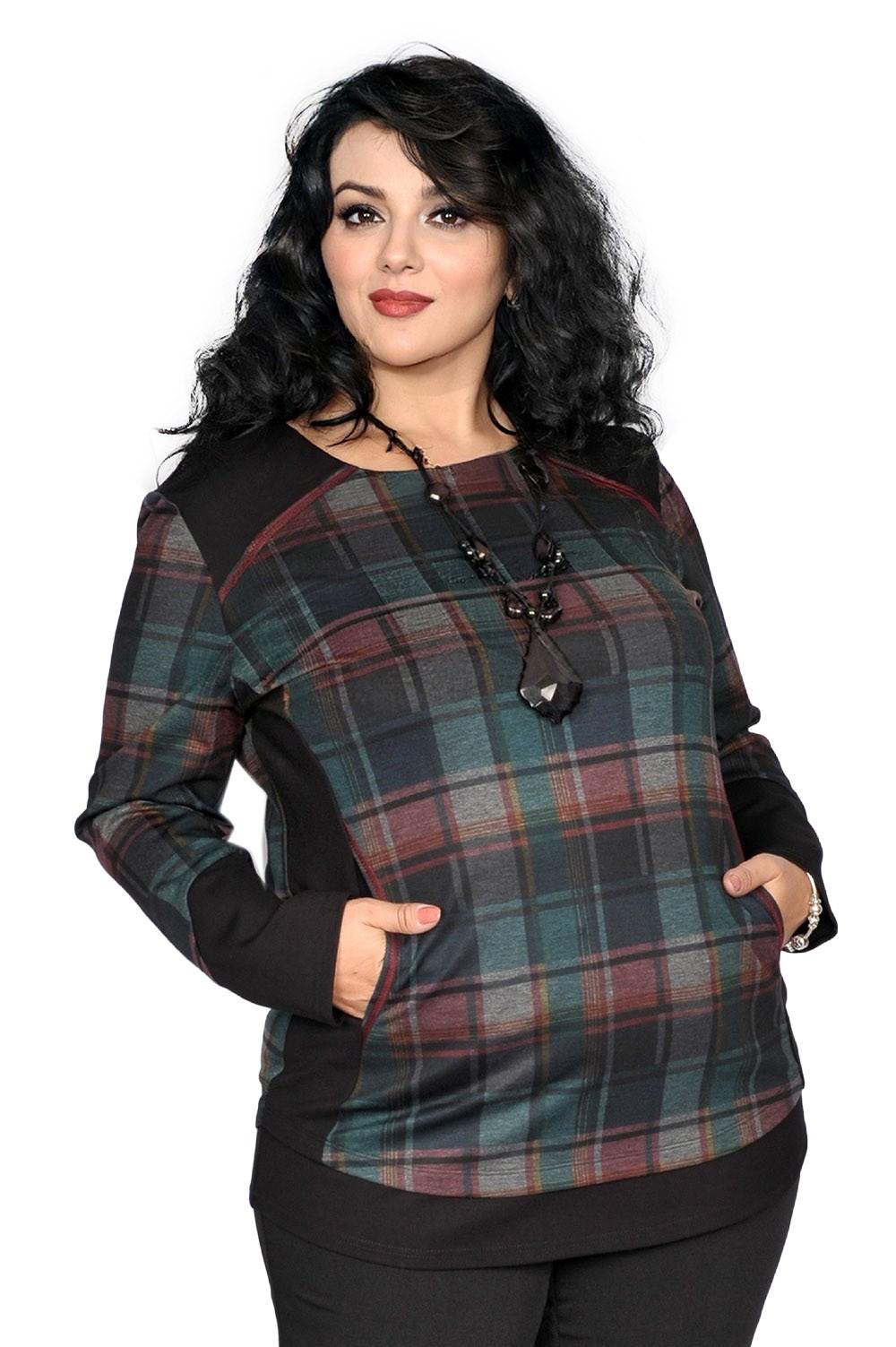 Bluza eleganta in carouri , model KR88BLDJ45