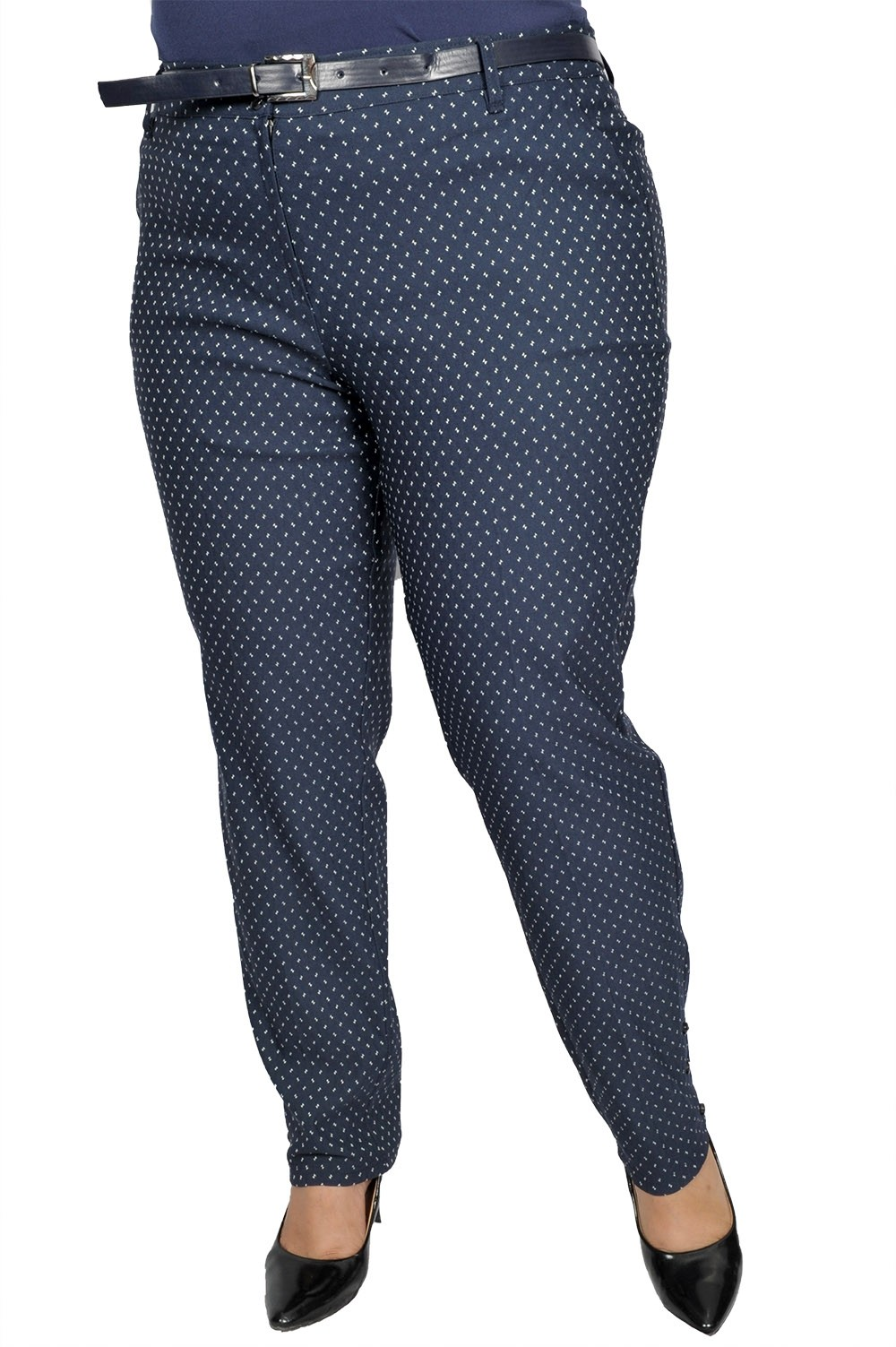 Pantalon elegant cu curea, model KXPACN38