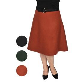 Fusta semiclos, model 6455, stofa amestec lana si captuseala