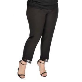 Pantalon stofa cu dantela, model 8361